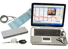 what equipment is used during a Napa lie detector exam